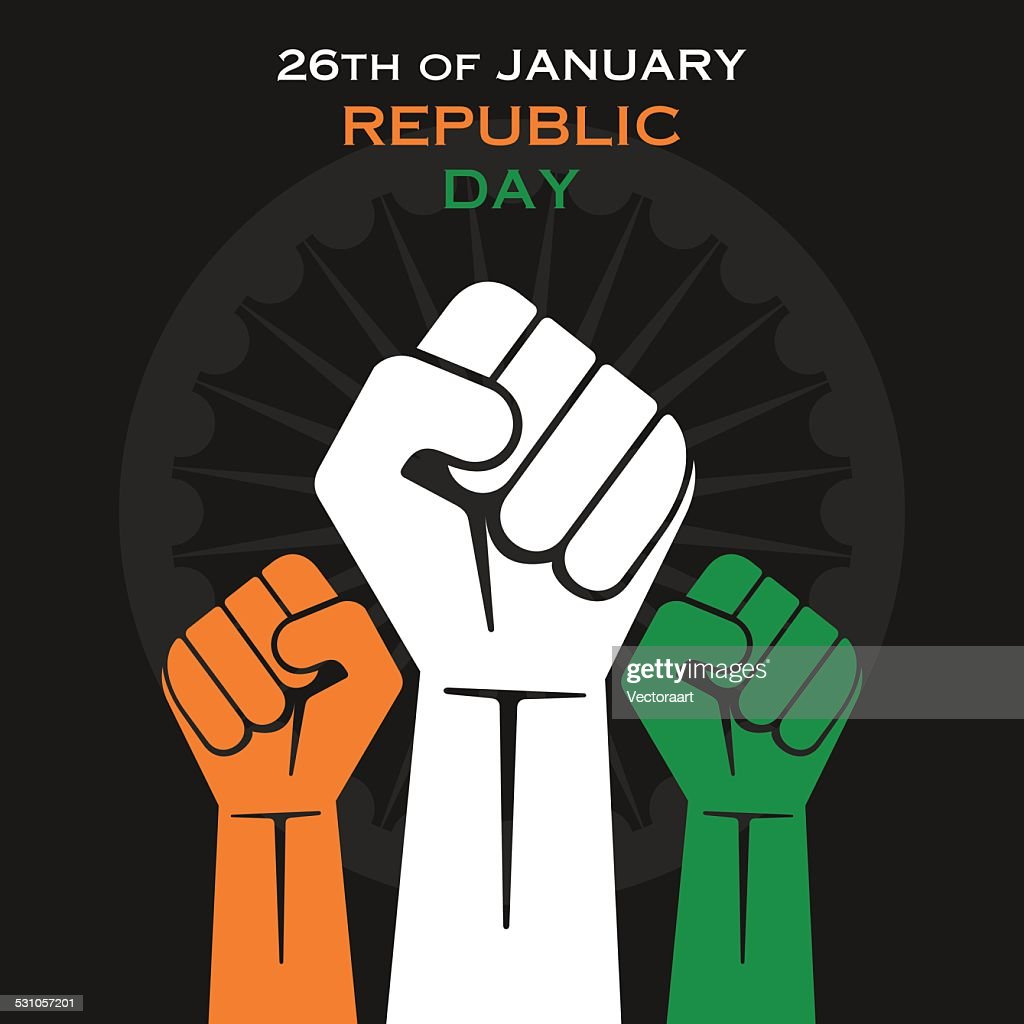 republic day greeting design vector