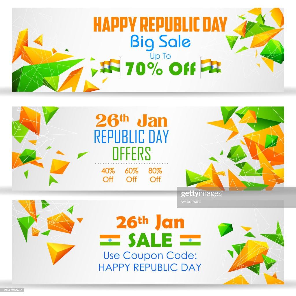 Republic Day sale banner