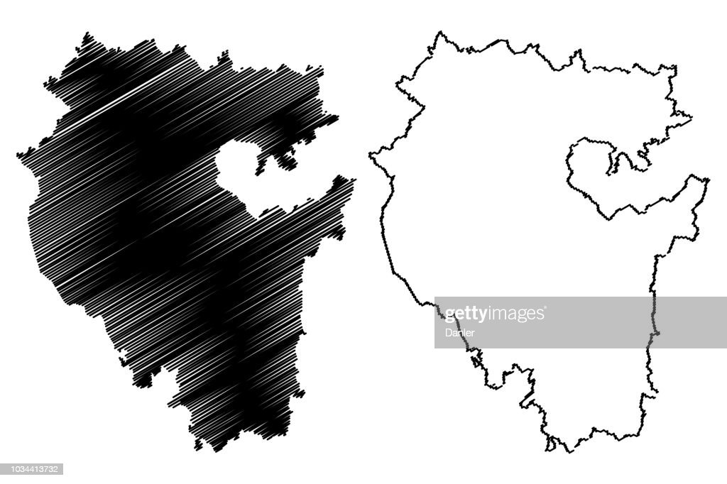 Republic of Bashkortostan map vector
