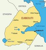 Republic of Djibouti - vector map
