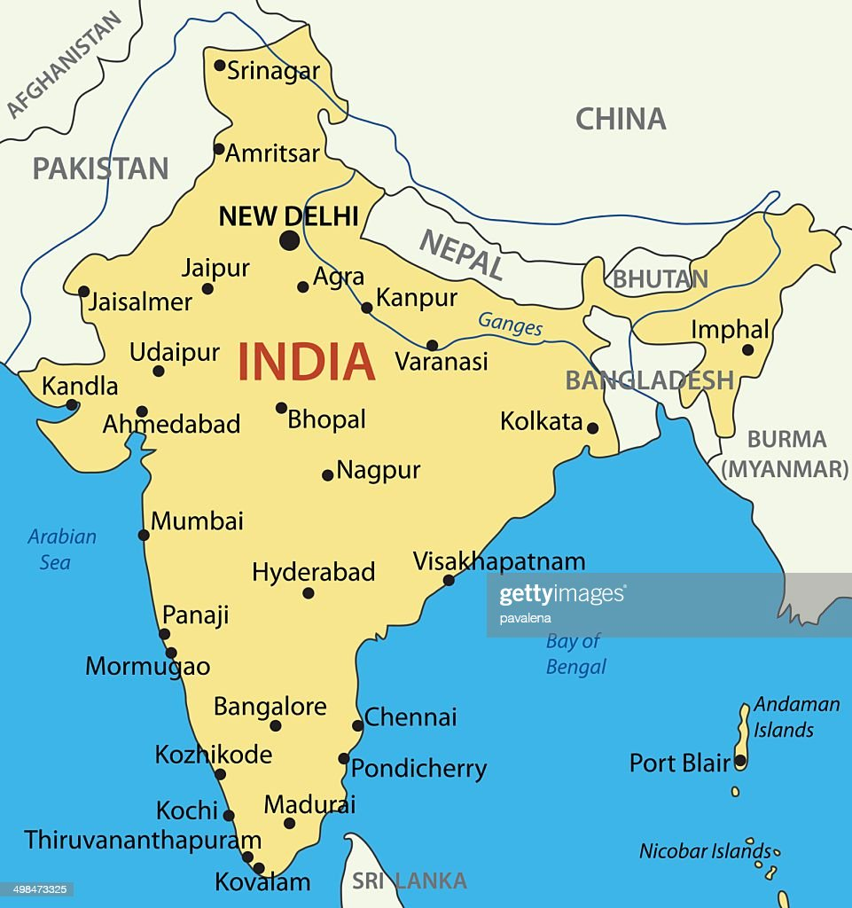 Republic of India - vector map