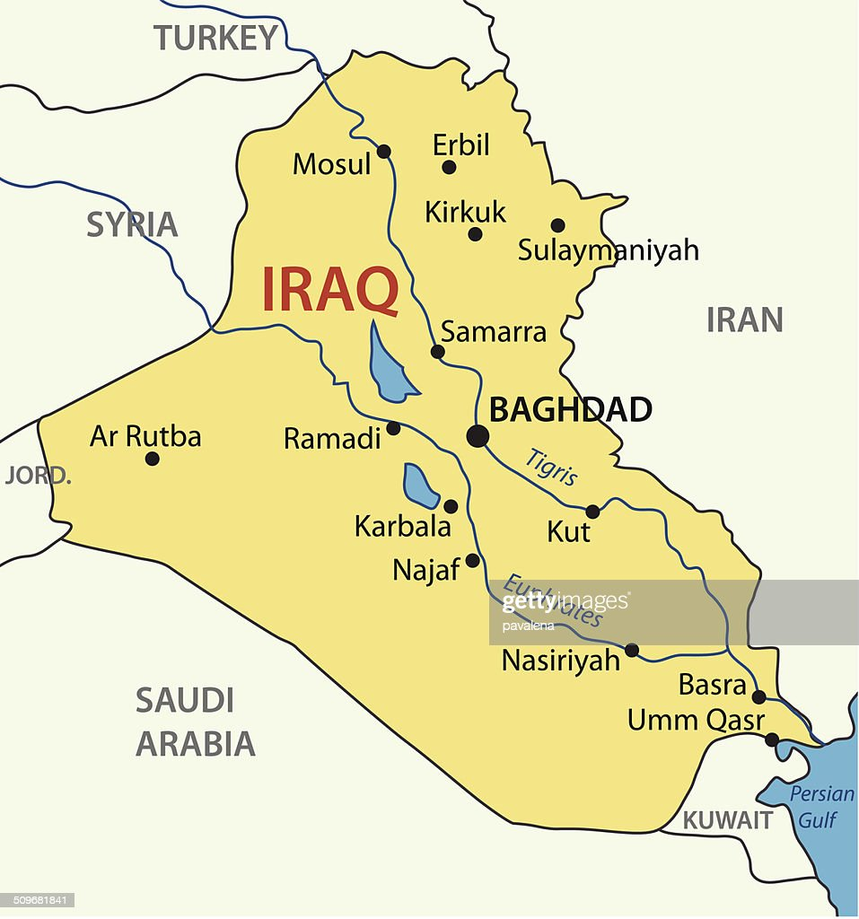 Republic Of Iraq Vector Map Vector Art Getty Images