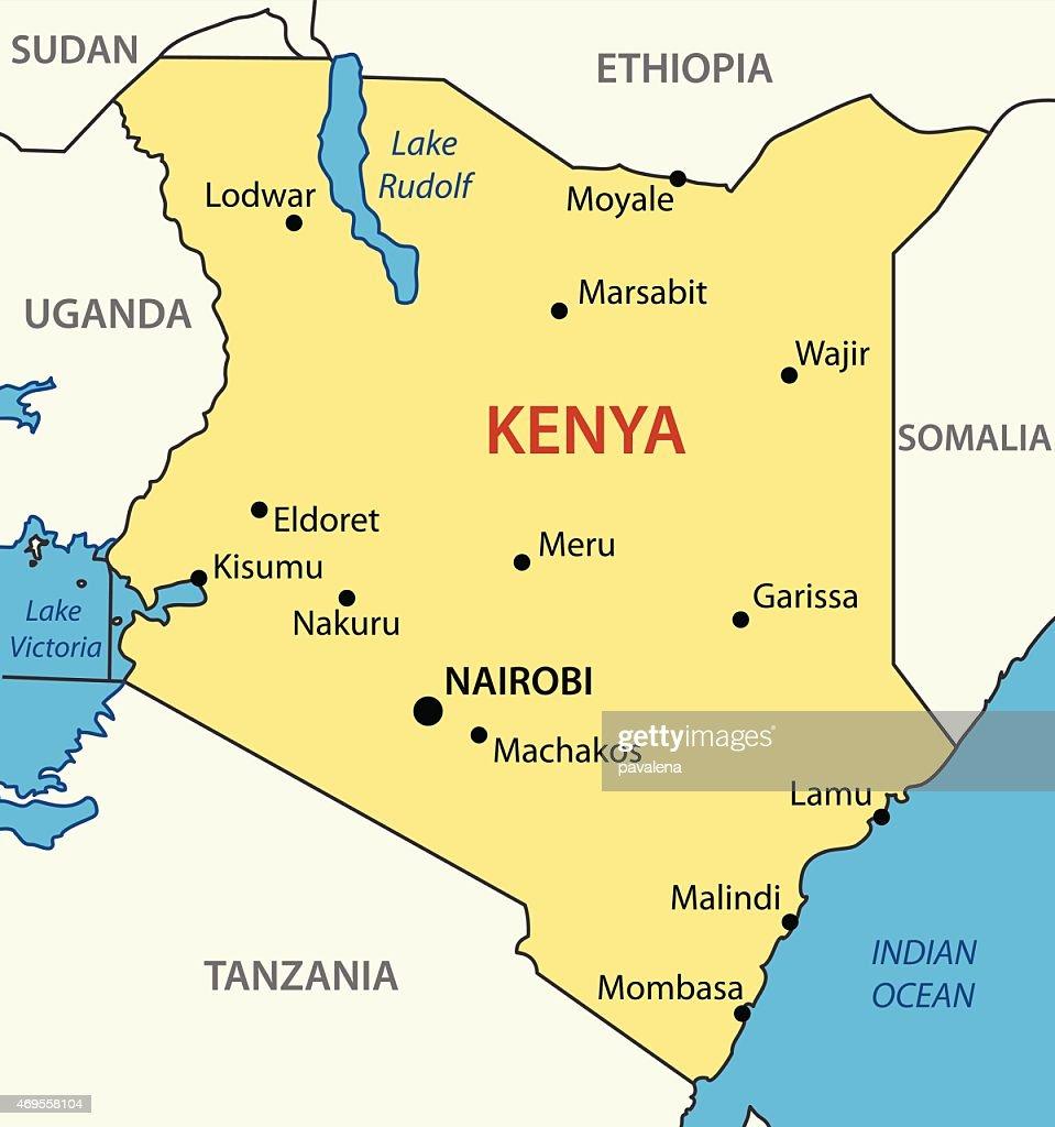 Republic of Kenya - vector map
