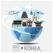 Republic Of Korea Landmark Global Travel And Journey Infographic