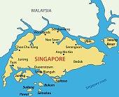 Republic of Singapore - vector map