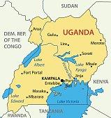 Republic of Uganda - vector map