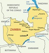 Republic of Zambia - vector map