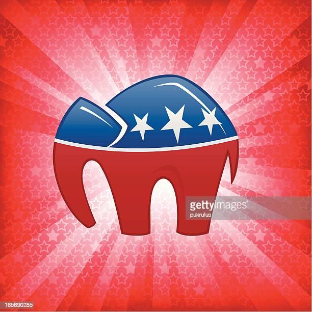 republican burst - us republican party stock illustrations
