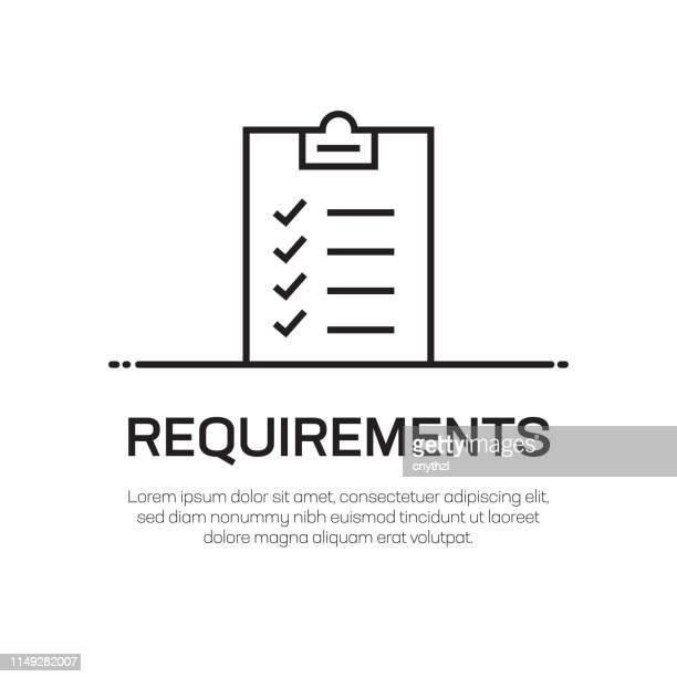 requirements vector line icon - simple thin line icon, premium quality design element - representing stock illustrations
