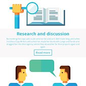 Research and discussion concept vector illustration