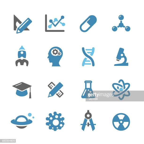research and science icons - conc series - chemical formula stock illustrations