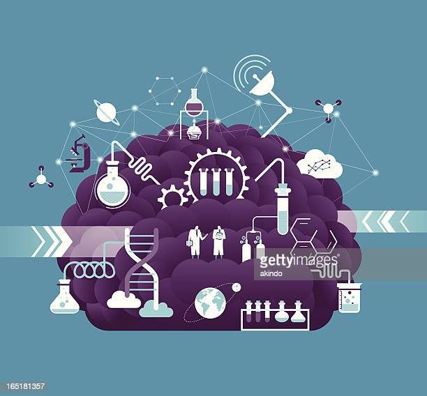 research & development - science and technology stock illustrations
