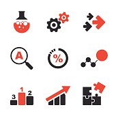 Research simple vector icon set