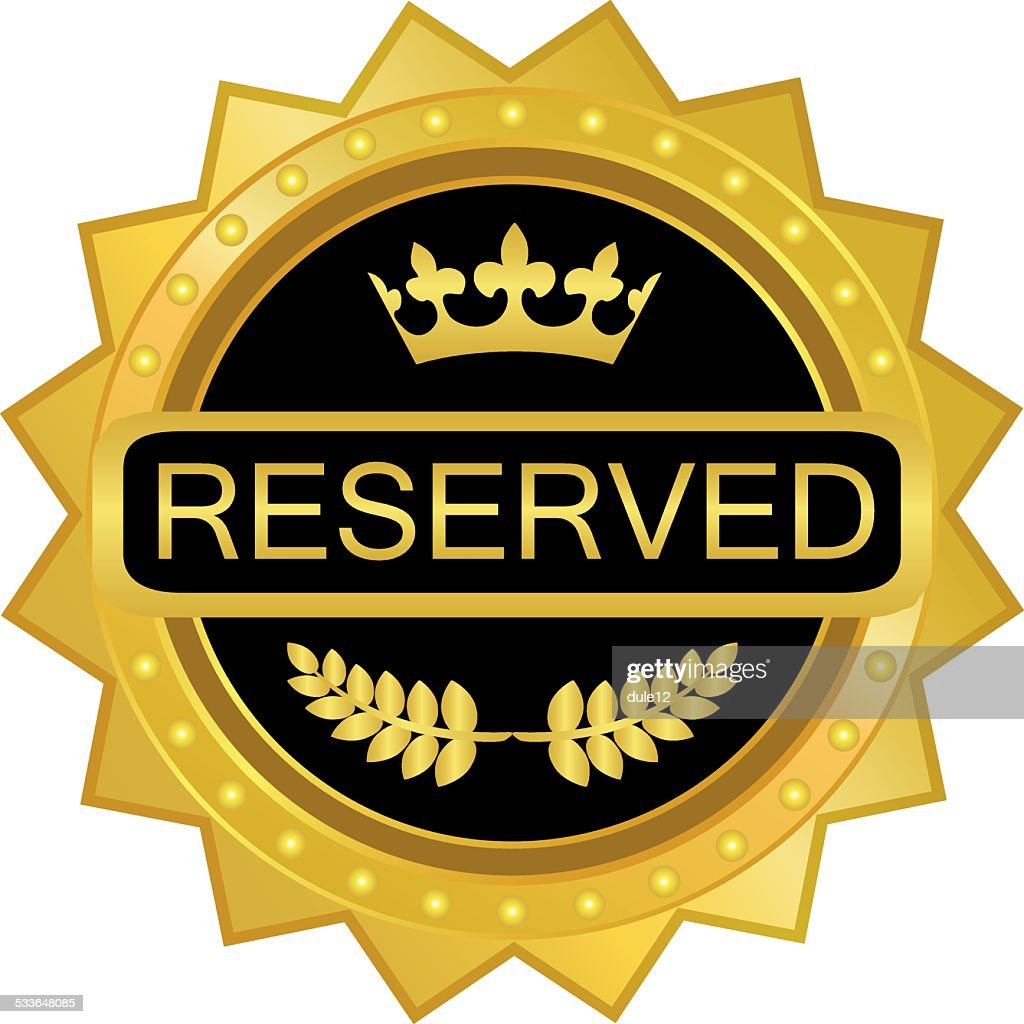 Reserved Gold Badge