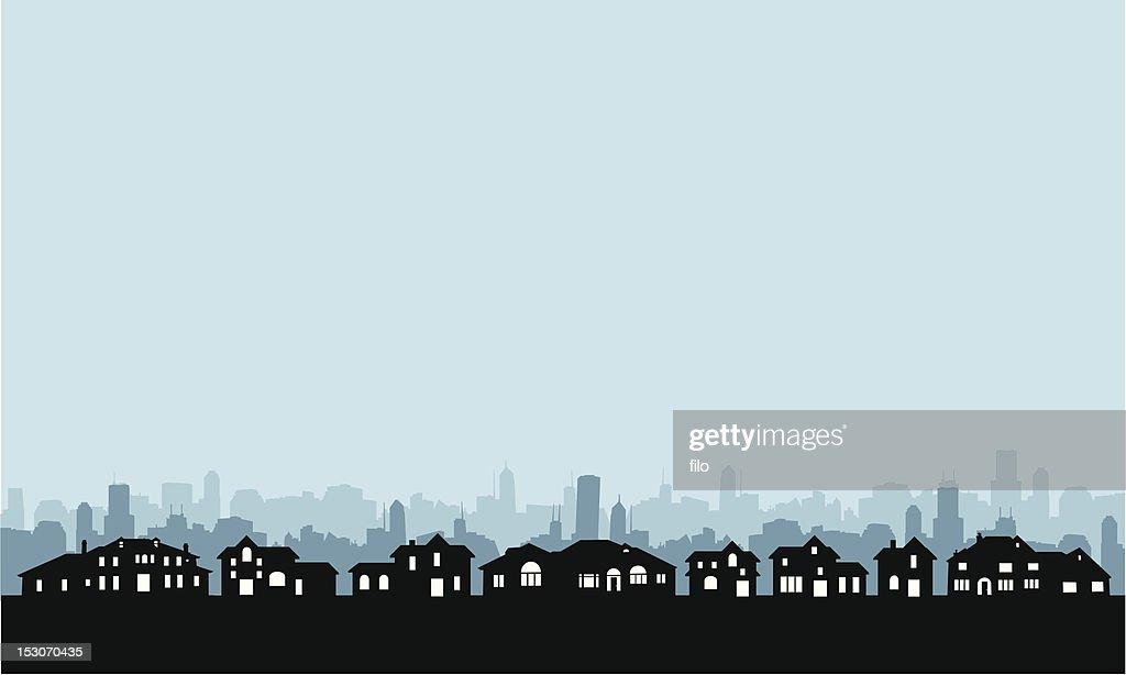 Residential Area Skyline : stock illustration