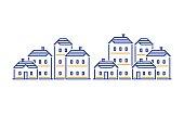 Residential district concept, real estate development, apartment building