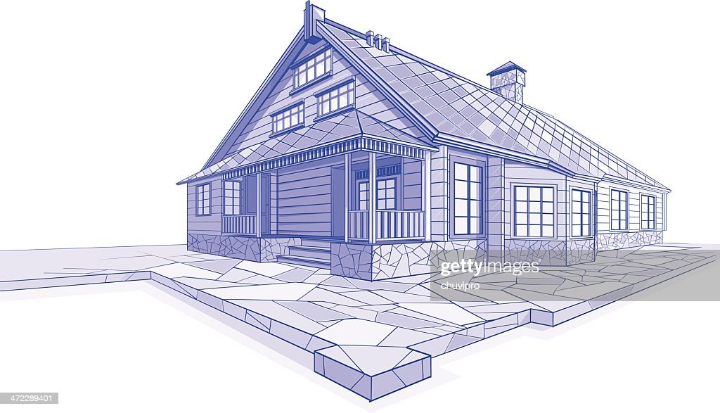 Residential House sketch Chalet