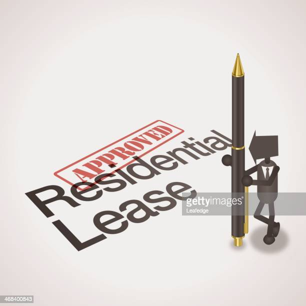 residential lease - legal document stock illustrations, clip art, cartoons, & icons