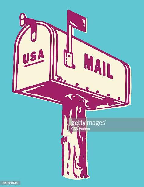 illustrations, cliparts, dessins animés et icônes de résidentiel de boîte aux lettres - facteur