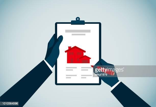 residential - clipboard stock illustrations