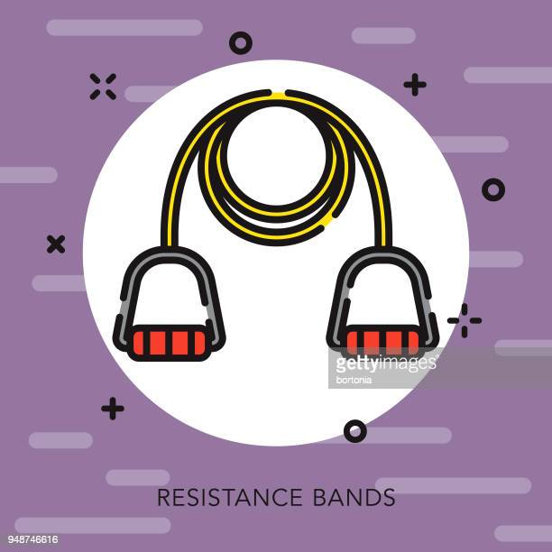 Resistance Bands Open Outline Fitness Icon