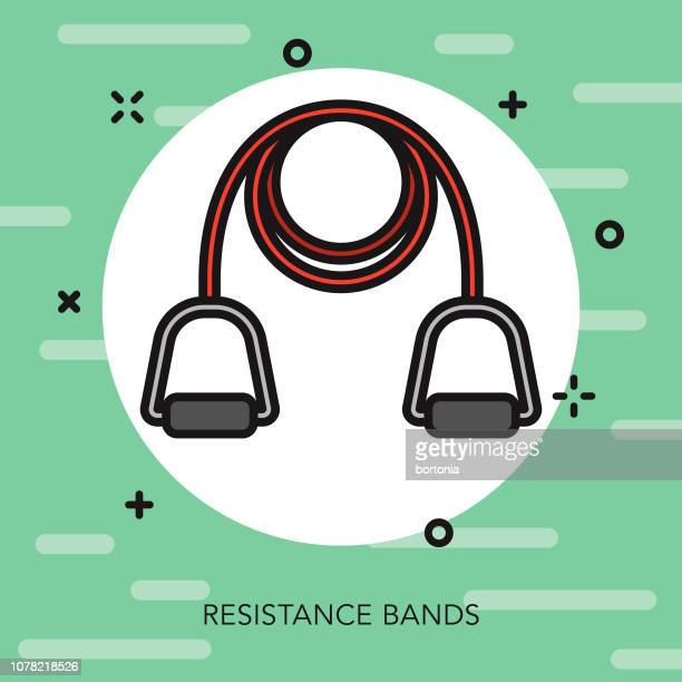 Resistance Bands Weight Loss Thin Line Icon