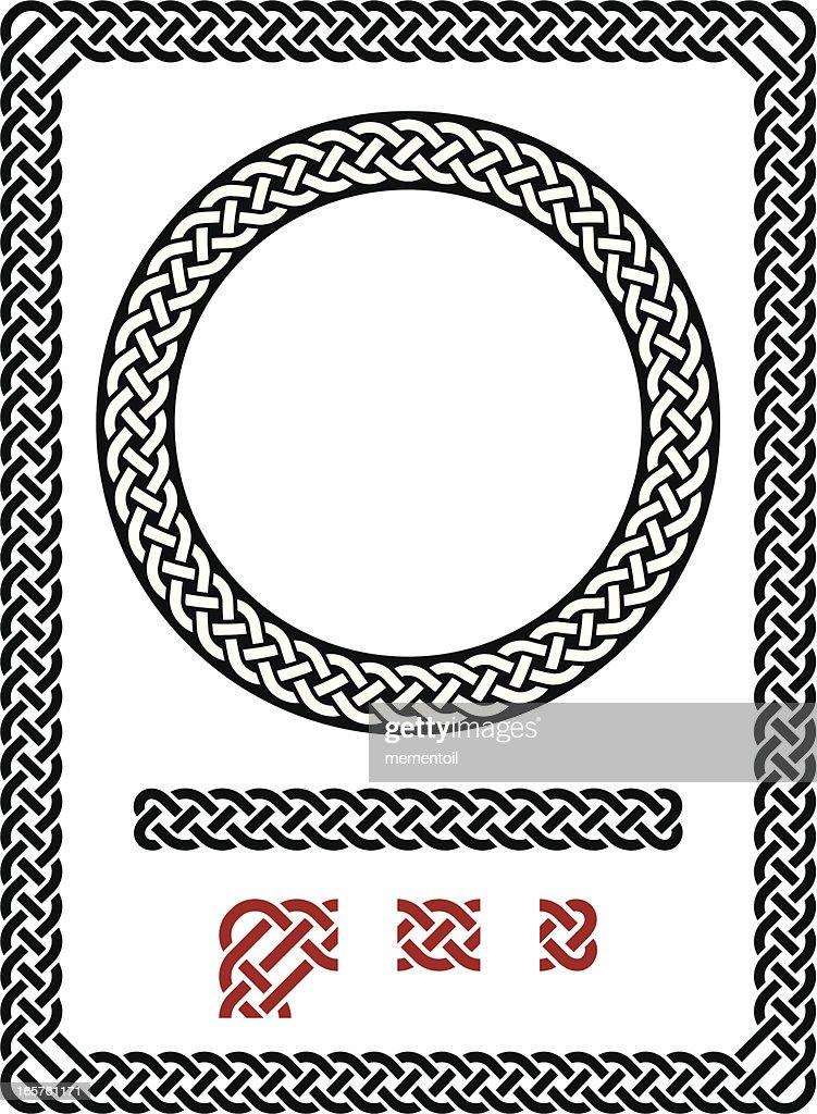 Resizable seamless Celtic frame