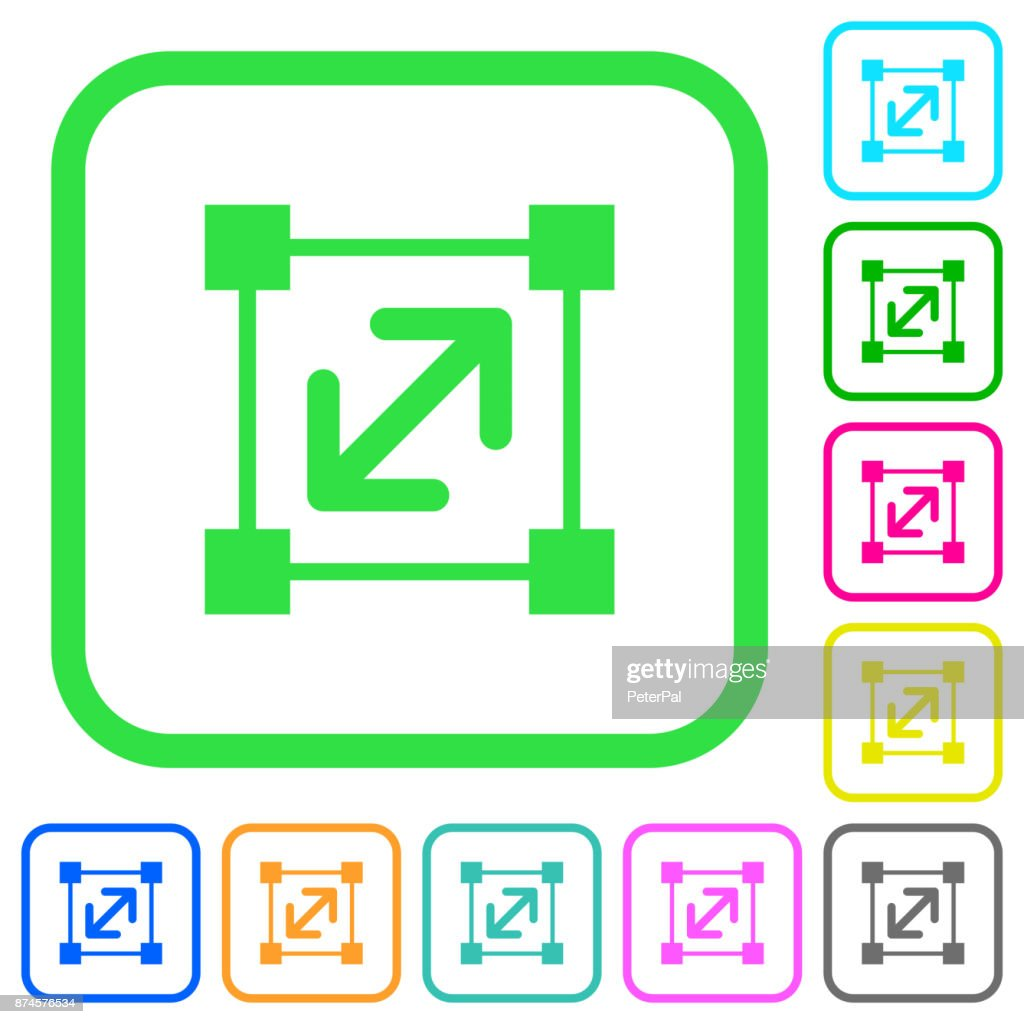 Resize element vivid colored flat icons icons