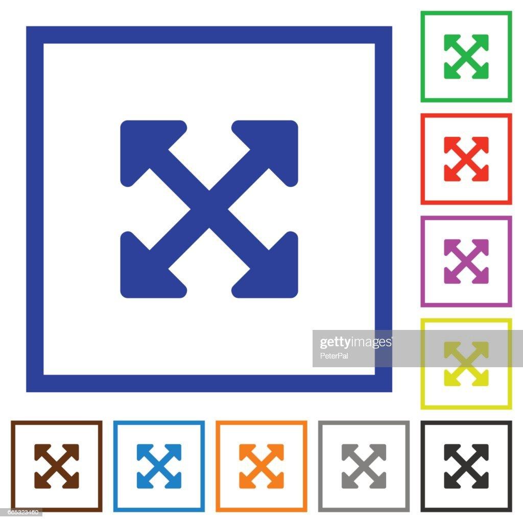 Resize full alt framed flat icons