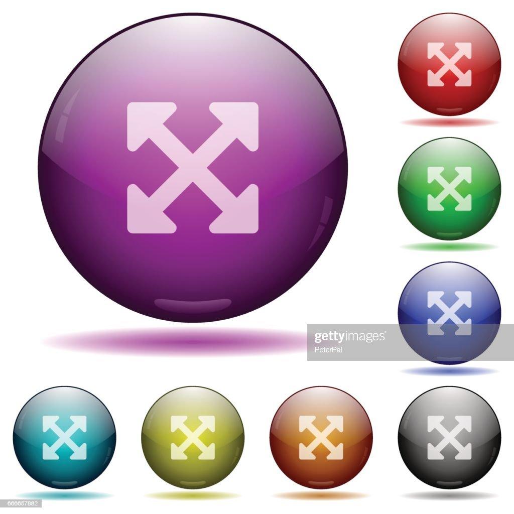 Resize full alt glass sphere buttons