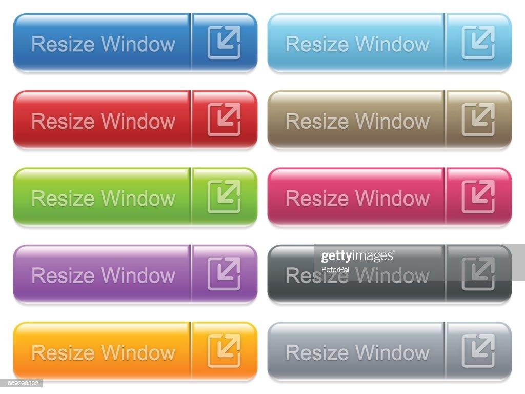 Resize window captioned menu button set