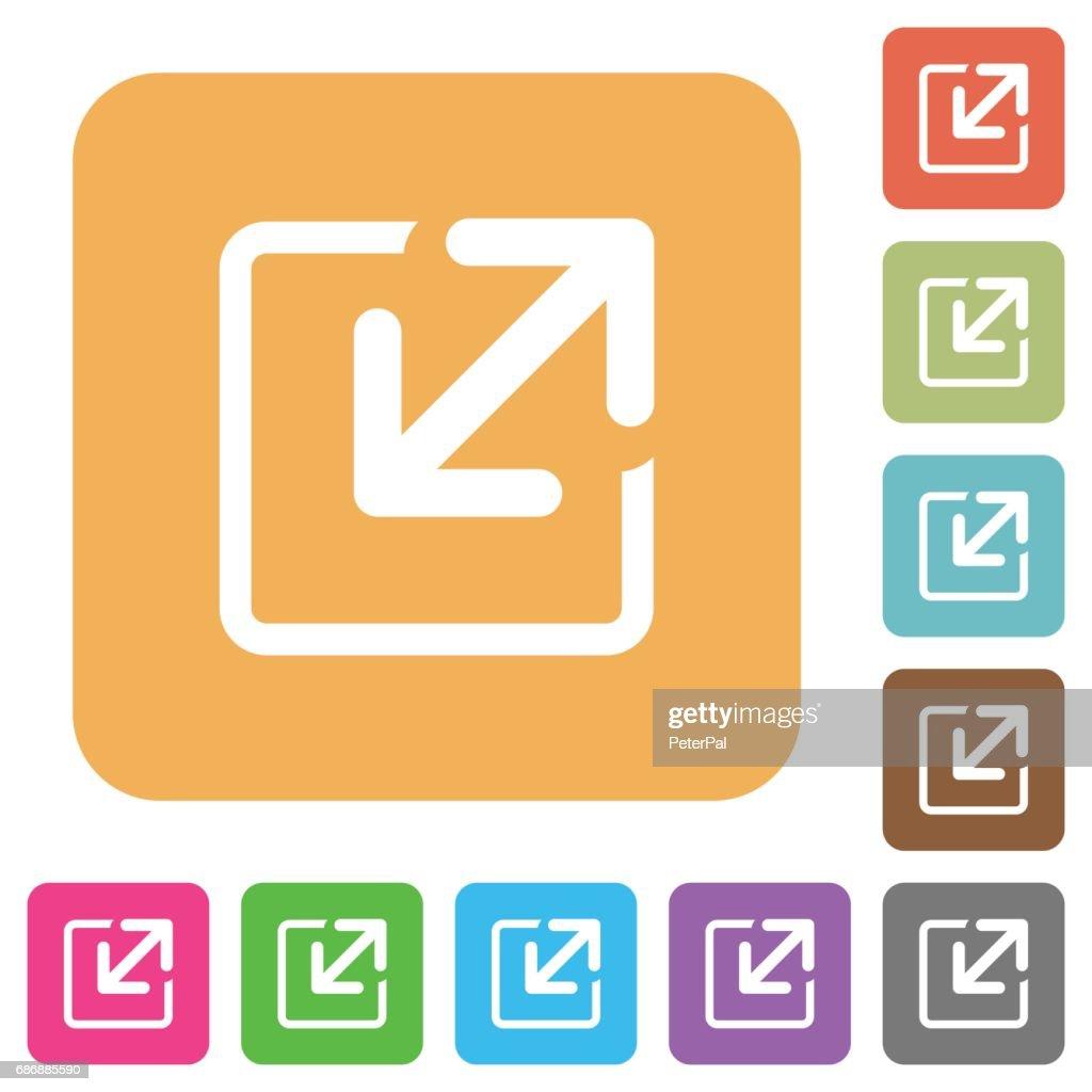 Resize window rounded square flat icons