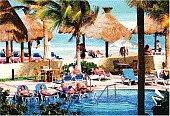 Resort Swimming Pool and Beach
