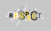 Respect And Appreciation Web Banner Abstract Template Background