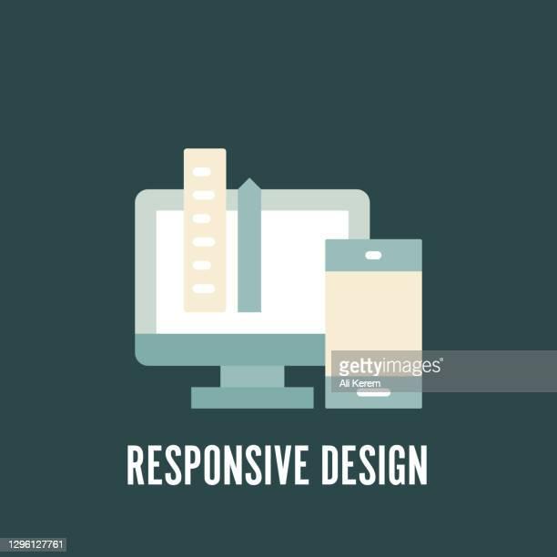 responsive design flaches symbol - responsives webdesign stock-grafiken, -clipart, -cartoons und -symbole