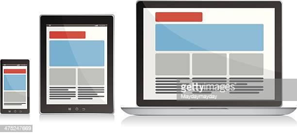 responsive design - responsives webdesign stock-grafiken, -clipart, -cartoons und -symbole