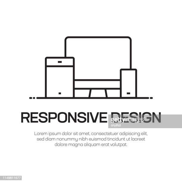 ilustraciones, imágenes clip art, dibujos animados e iconos de stock de icono de línea vectorial de diseño adaptable-icono de línea delgada simple, elemento de diseño de calidad premium - herramienta de trabajo