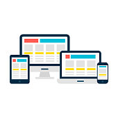 Responsive Web Design Gadgets over White
