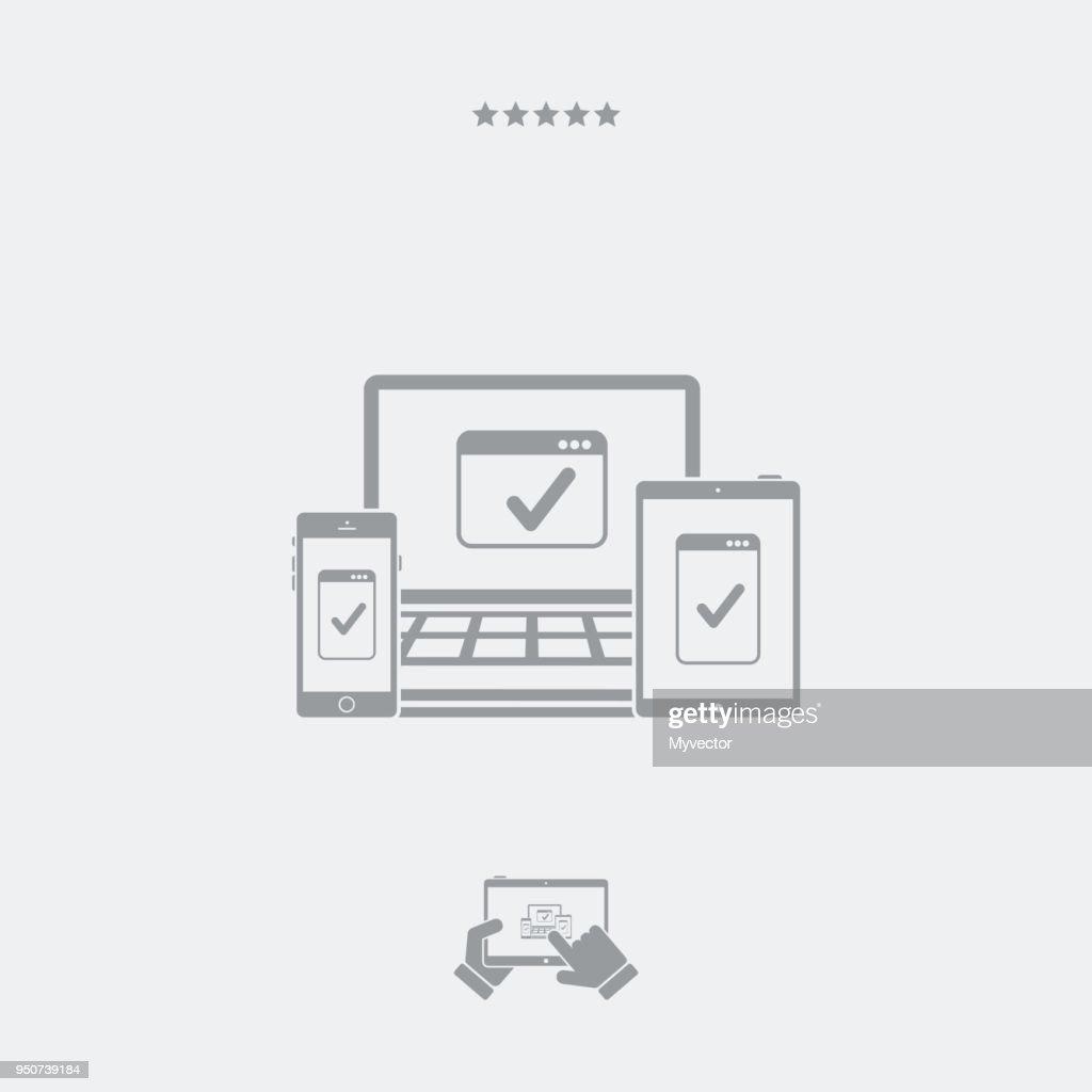 Responsive web design symbol