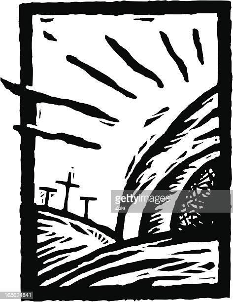 ressurection - resurrection religion stock illustrations, clip art, cartoons, & icons