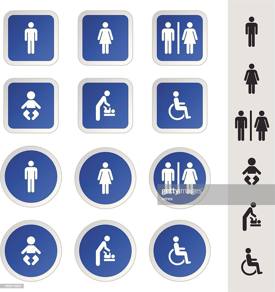 Rest Room Icons Set