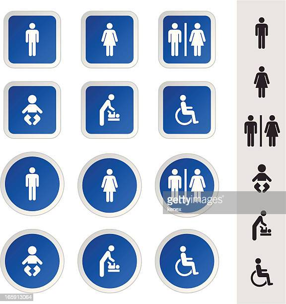 Rest Room Icons Set