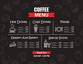 Restaurant and cafe menu design