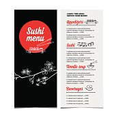 Restaurant cafe menu.