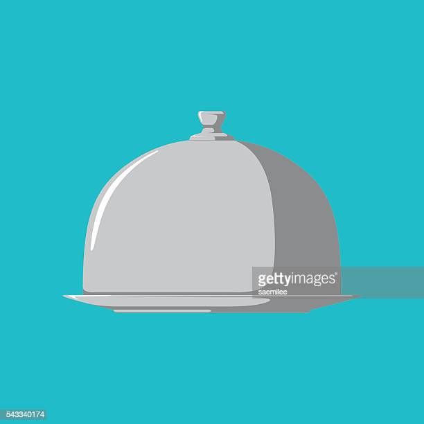 restaurant cloche - architectural dome stock illustrations, clip art, cartoons, & icons