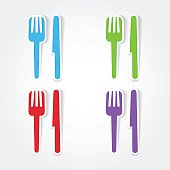 Restaurant Colorful Vector Icon Design