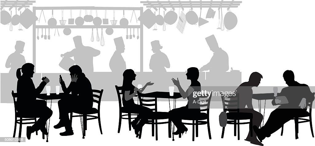 Restaurant Customers Vector Art Getty Images