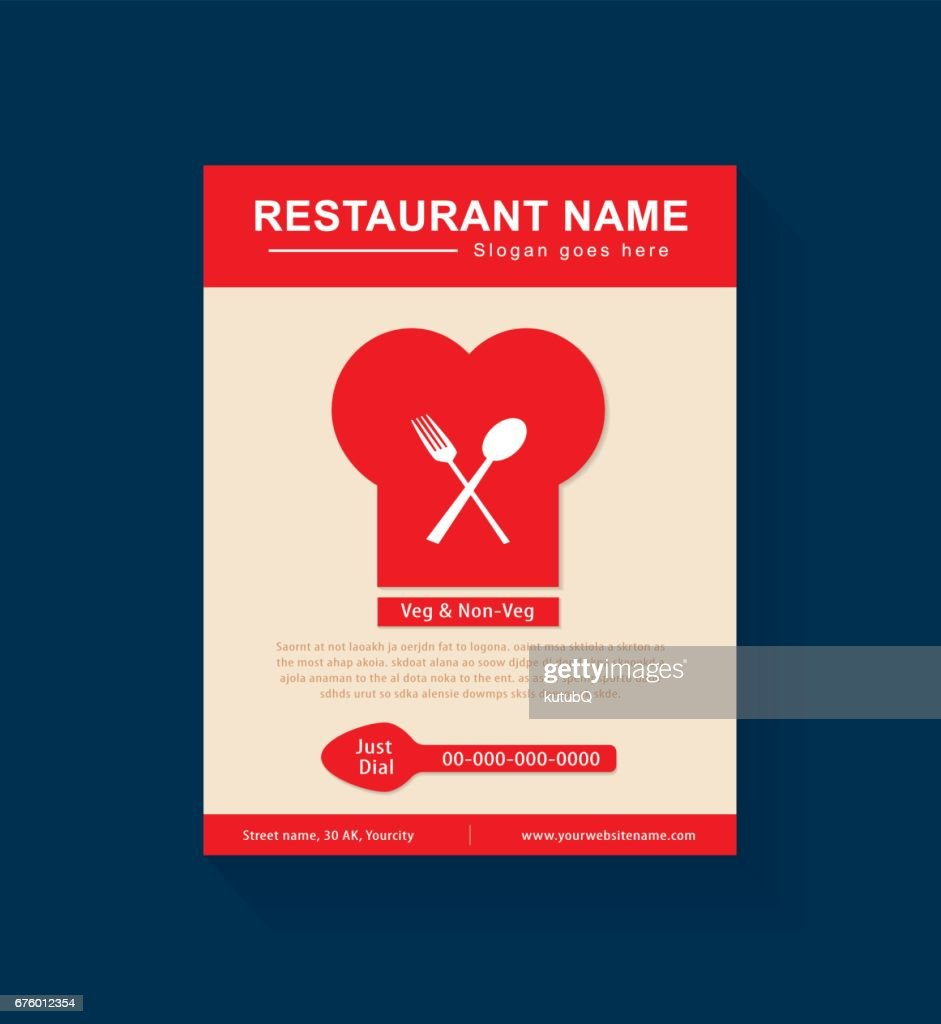 restaurant flyer template design vector art getty images