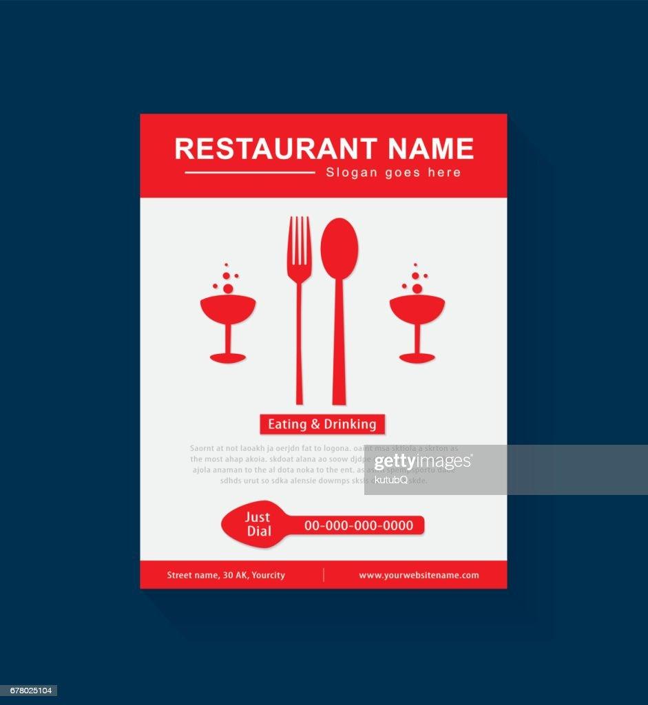 Schön Restaurant Flyer Vorlage Bilder - Beispiel Business Lebenslauf ...