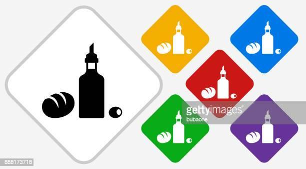 Restaurante alimentos Color diamante Vector icono